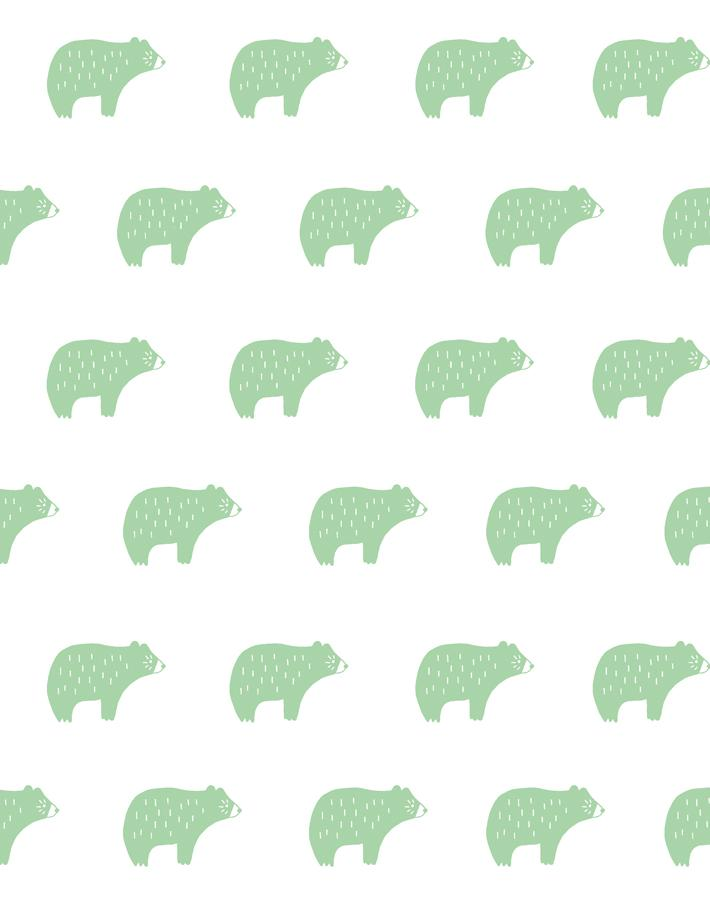 Chubby Bear Wallpaper - Project Nursery
