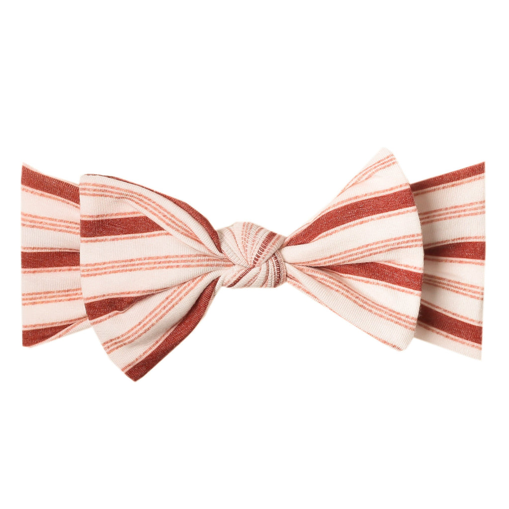 Cinnamon Knit Headband Bow - Project Nursery