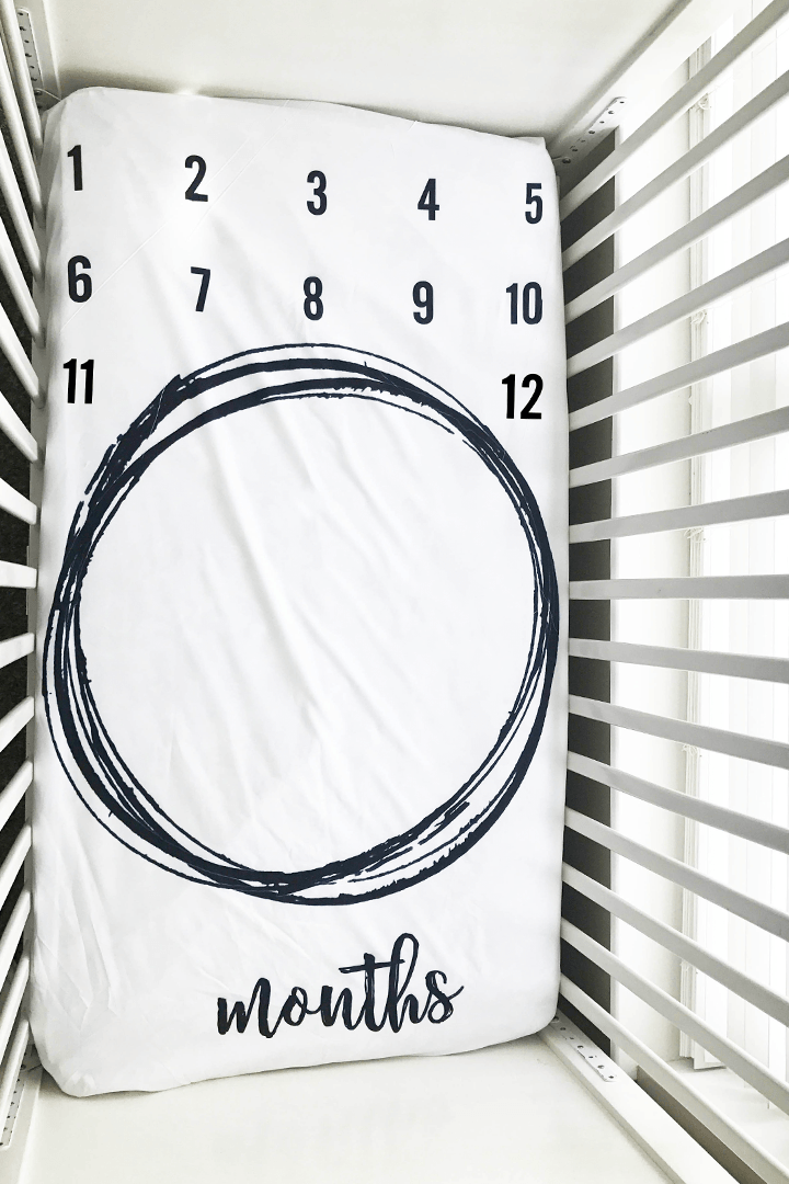 Circle Milestone Crib Sheet - Project Nursery