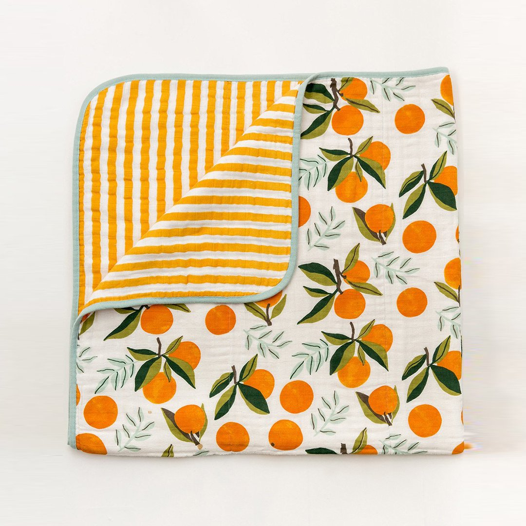 Clementine Reversible Quilt - Project Nursery