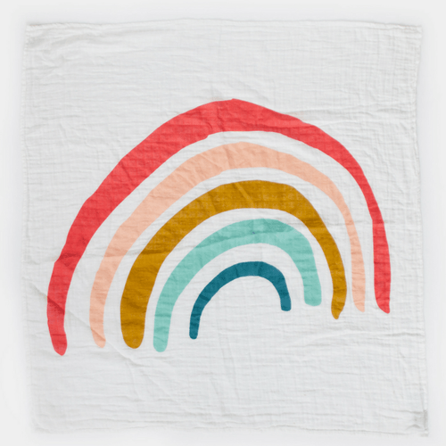 Rainbow Swaddle Blanket - Project Nursery