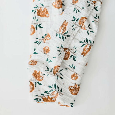 Personalized Muslin Swaddle - Flamingo Love