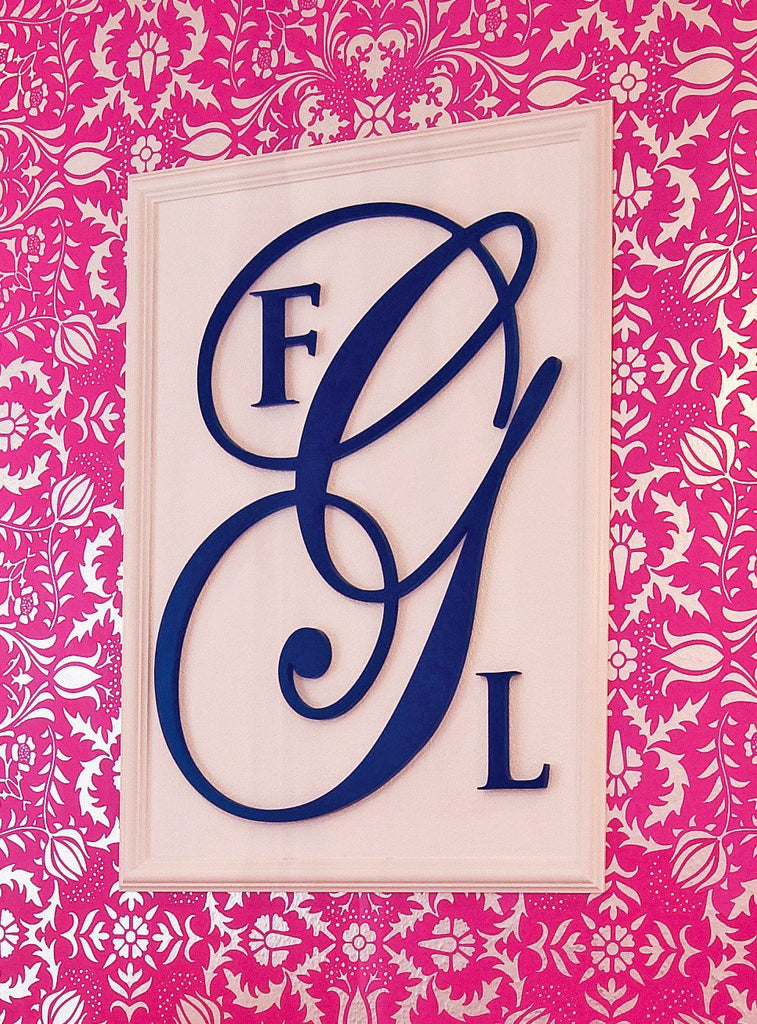Wood Wall Monogram  - The Project Nursery Shop - 2