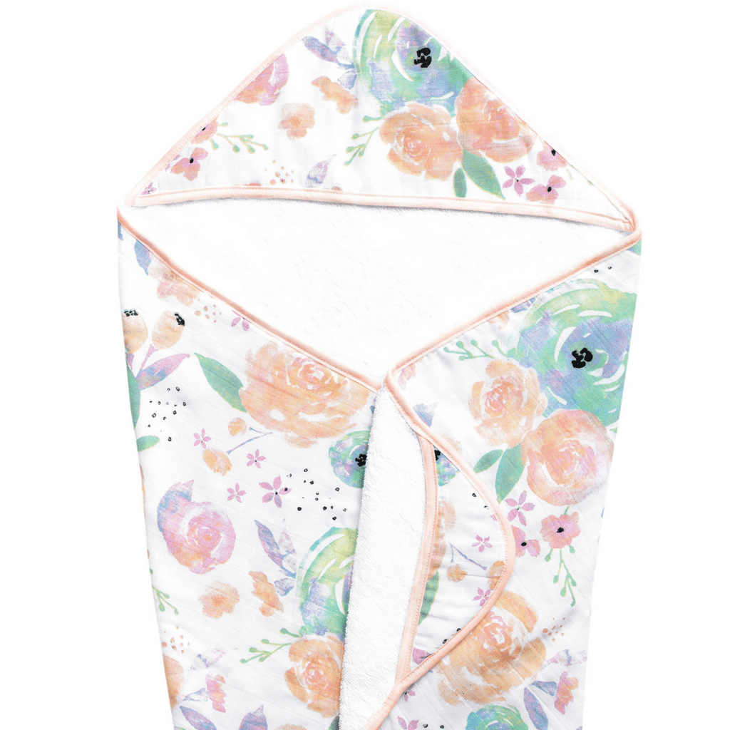Bloom Muslin Hooded Towel - Project Nursery