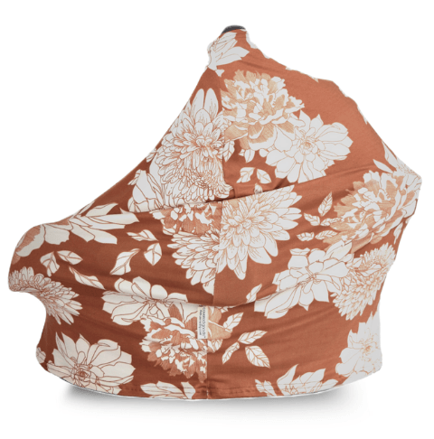 Four-in-One Nursing + Car Seat Cover - Copper Blossom - Project Nursery