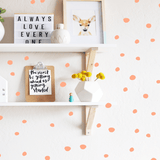 Tiny Hand Drawn Dots Coral - The Project Nursery Shop - 4