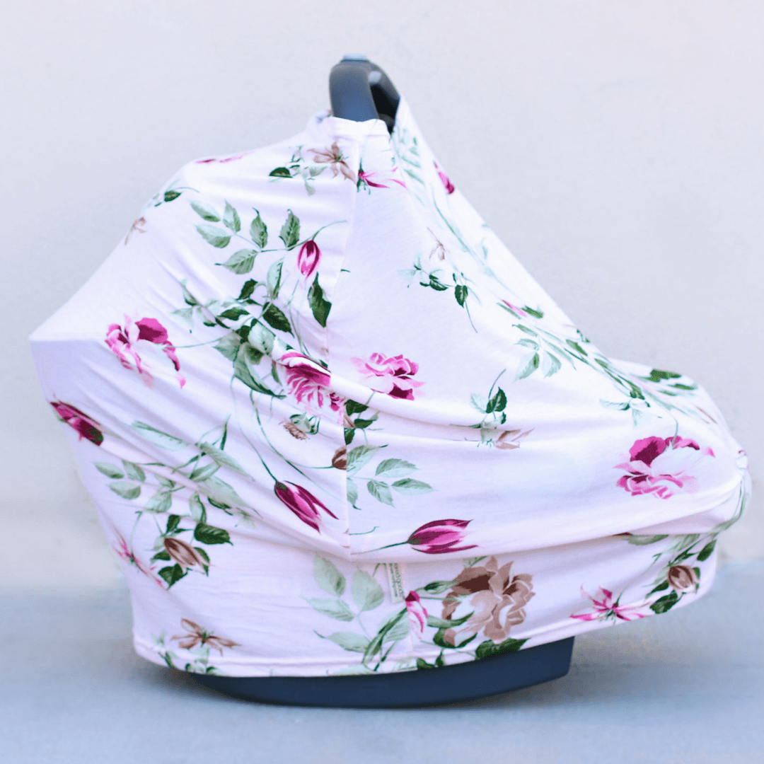 Four-in-one Nursing + Car Seat Cover - Blush Rose
