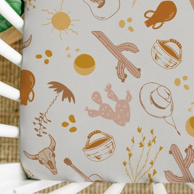 Canyon Printed Crib Sheet - Project Nursery