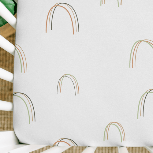 Over the Rainbow Printed Crib Sheet - Project Nursery
