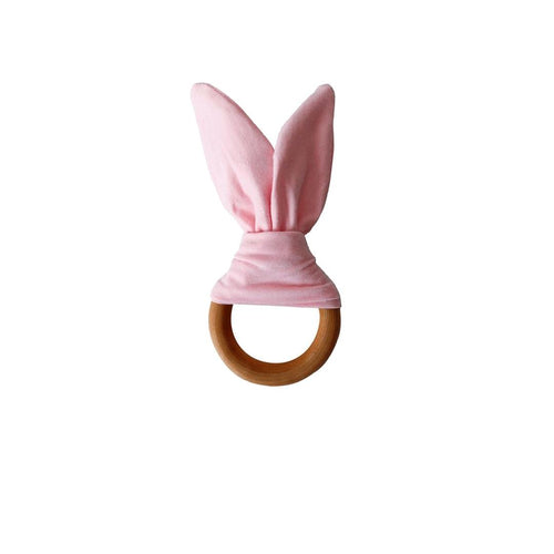 Crinkle Bunny Ears Teether - Blush - Project Nursery