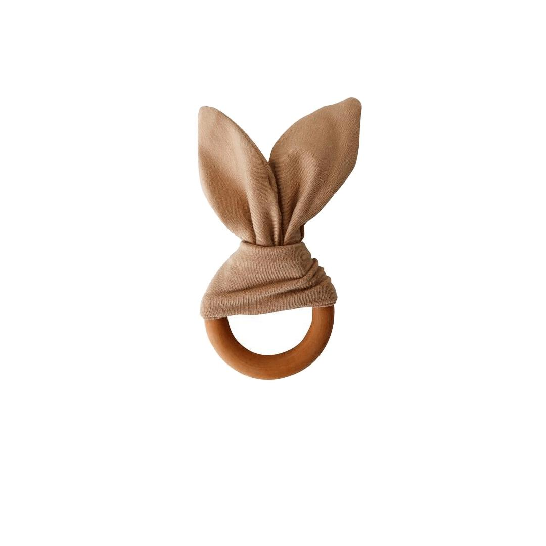 Crinkle Bunny Ears Teether - Camel - Project Nursery