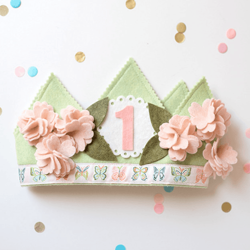 Shabby Cherry Blossom 1st Birthday Crown - Project Nursery