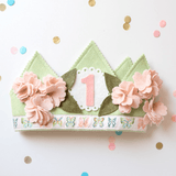 Shabby Cherry Blossom 1st Birthday Crown  - The Project Nursery Shop - 1