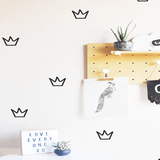 Outlined Crowns Wall Decal Black - The Project Nursery Shop - 2