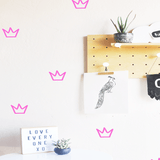 Outlined Crowns Wall Decal Hot Pink - The Project Nursery Shop - 3