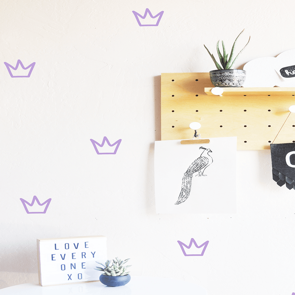 Outlined Crowns Wall Decal Lilac - The Project Nursery Shop - 5