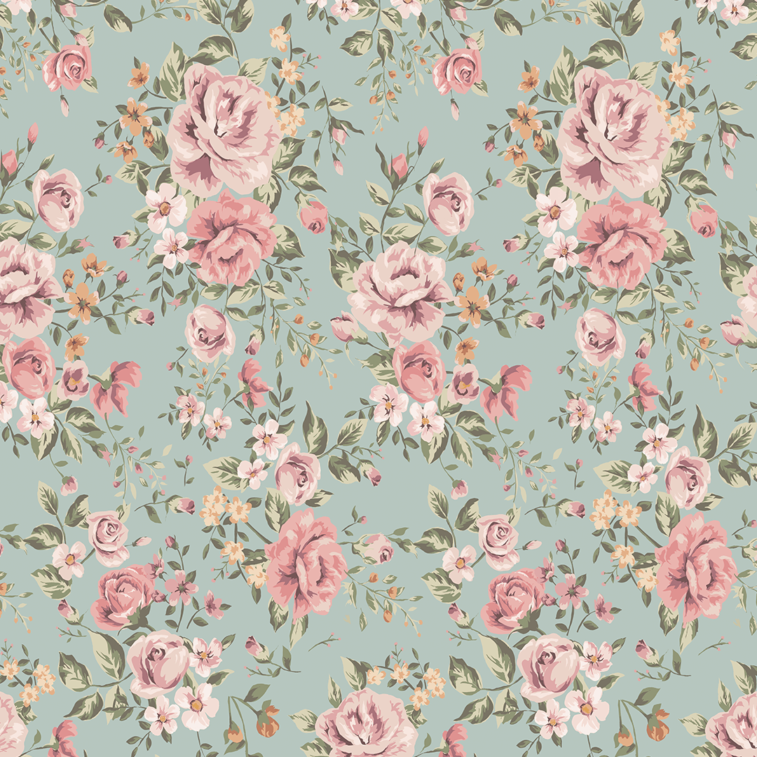 Cutesie Floral Wallpaper Mural - Project Nursery