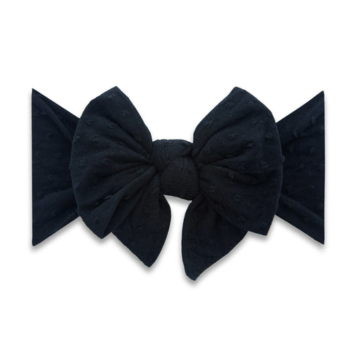 Shabby Black on Black Dot Enormous Knot Headband - Project Nursery