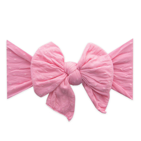 Pink Check Knot Headband