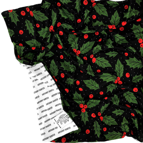 Organic Personalized Christmas Holly Blanket - Project Nursery