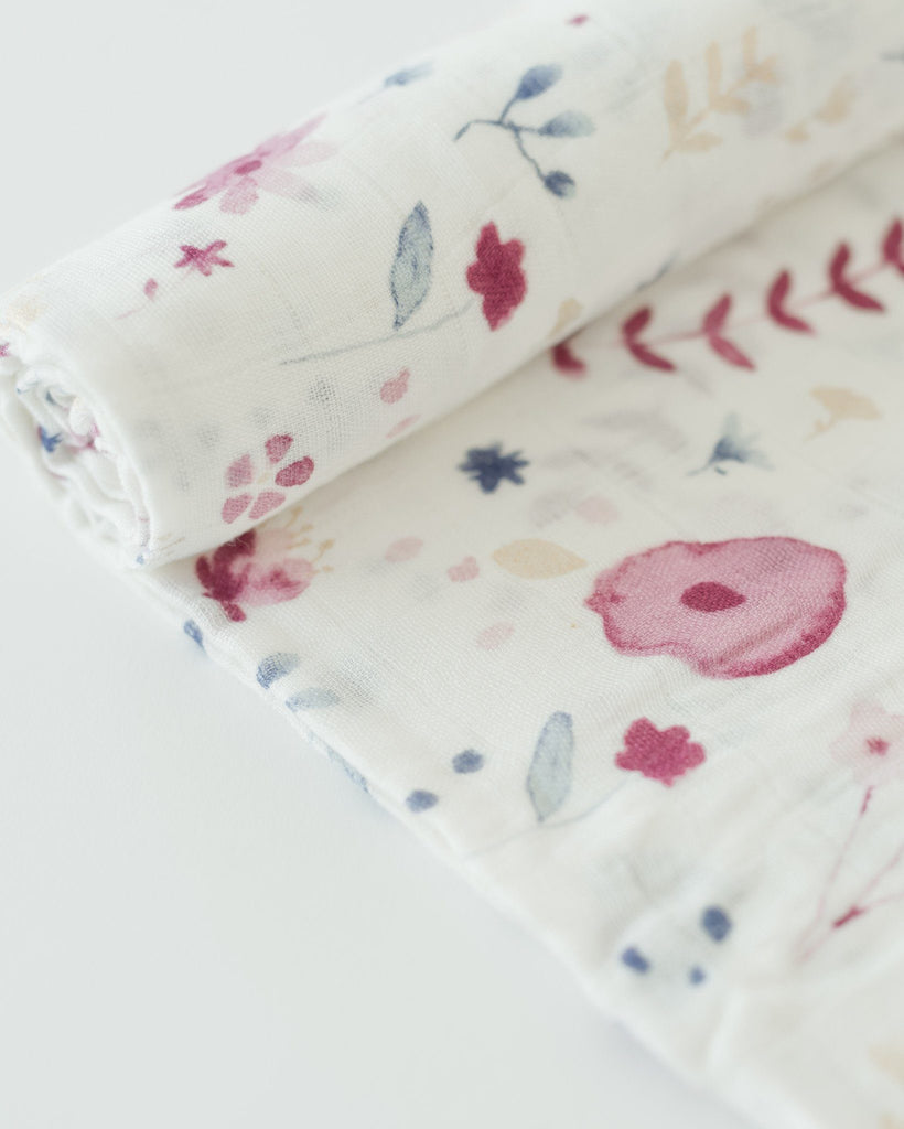 Deluxe Muslin Swaddle in Fairy Garden  - The Project Nursery Shop - 2
