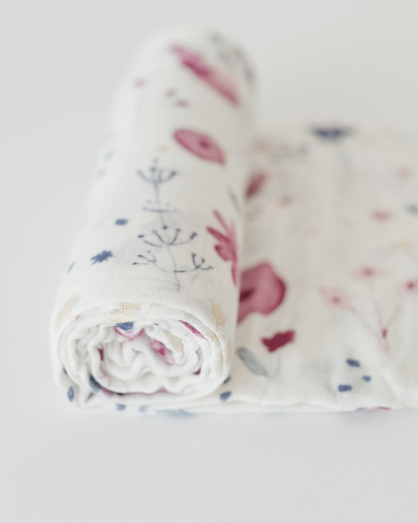 Deluxe Muslin Swaddle in Fairy Garden  - The Project Nursery Shop - 3