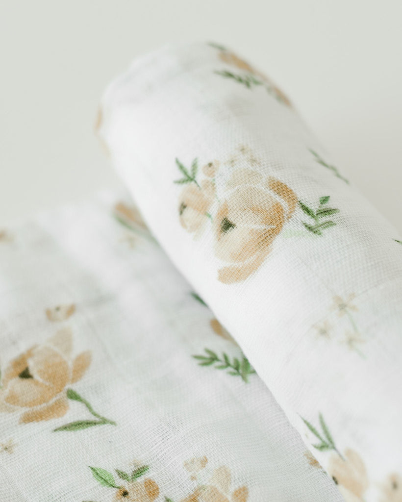 Yellow Rose Swaddle  - The Project Nursery Shop - 2