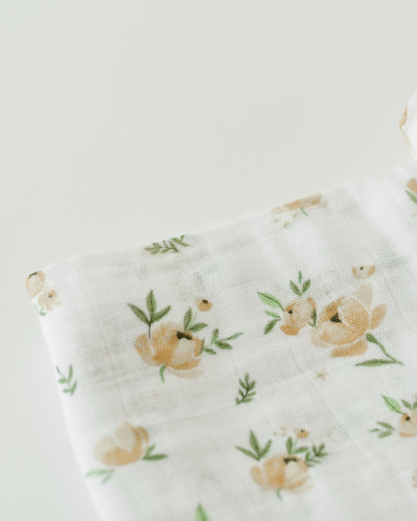 Yellow Rose Swaddle  - The Project Nursery Shop - 3