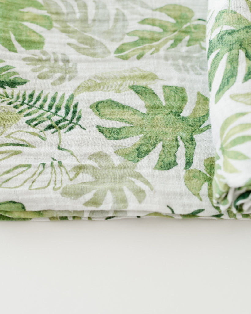 Tropical Leaf Swaddle  - The Project Nursery Shop - 6