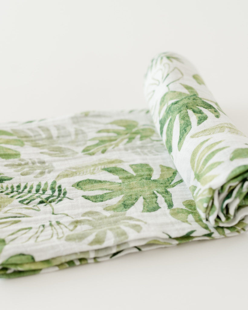 Tropical Leaf Swaddle  - The Project Nursery Shop - 2