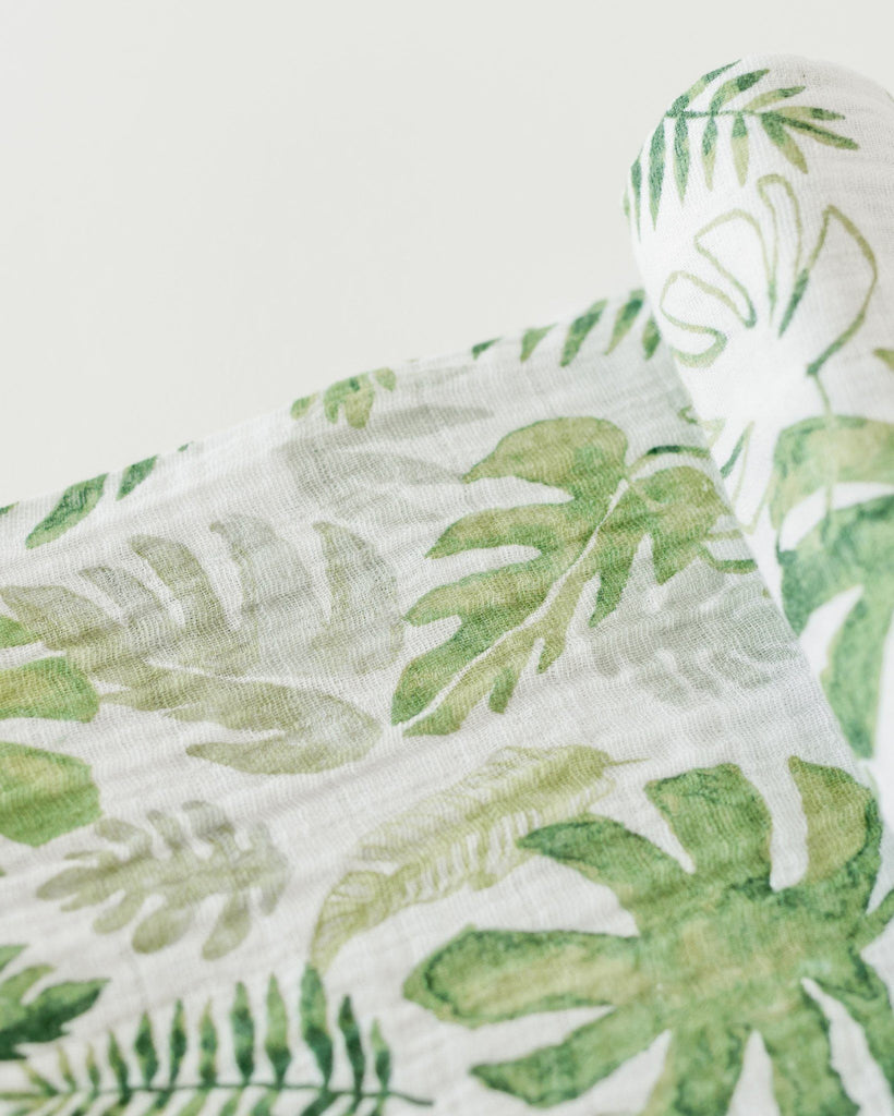 Tropical Leaf Swaddle  - The Project Nursery Shop - 3