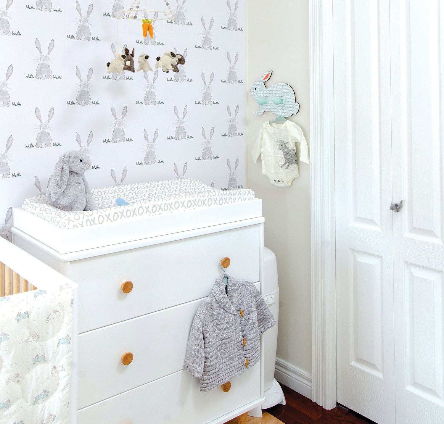 Baby Bunny Butt Wallpaper - Project Nursery