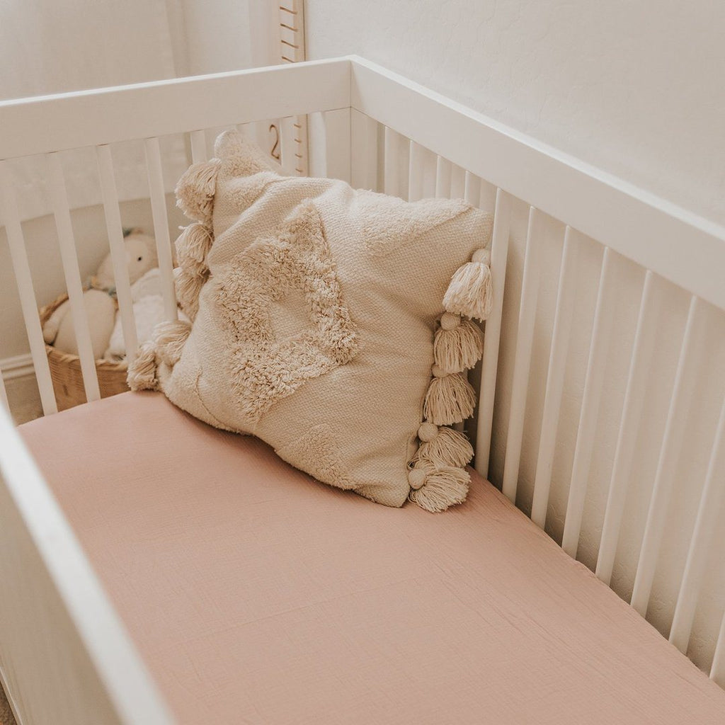 Mauve Crib Sheet - Project Nursery