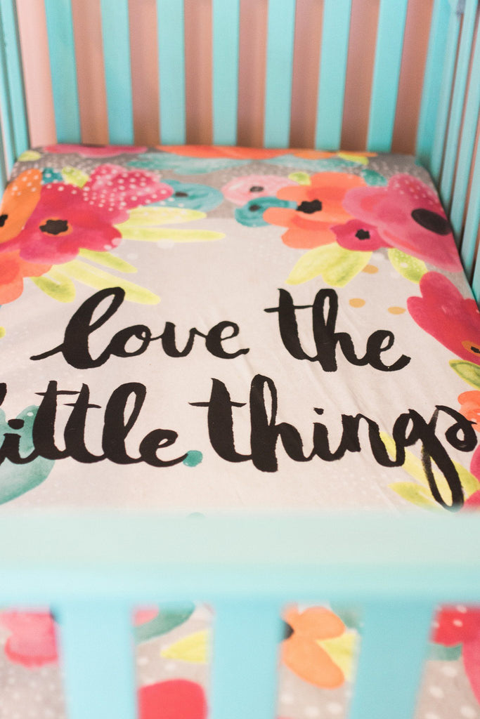 'Little Things' Organic Cotton Knit Crib Sheet  - The Project Nursery Shop - 3