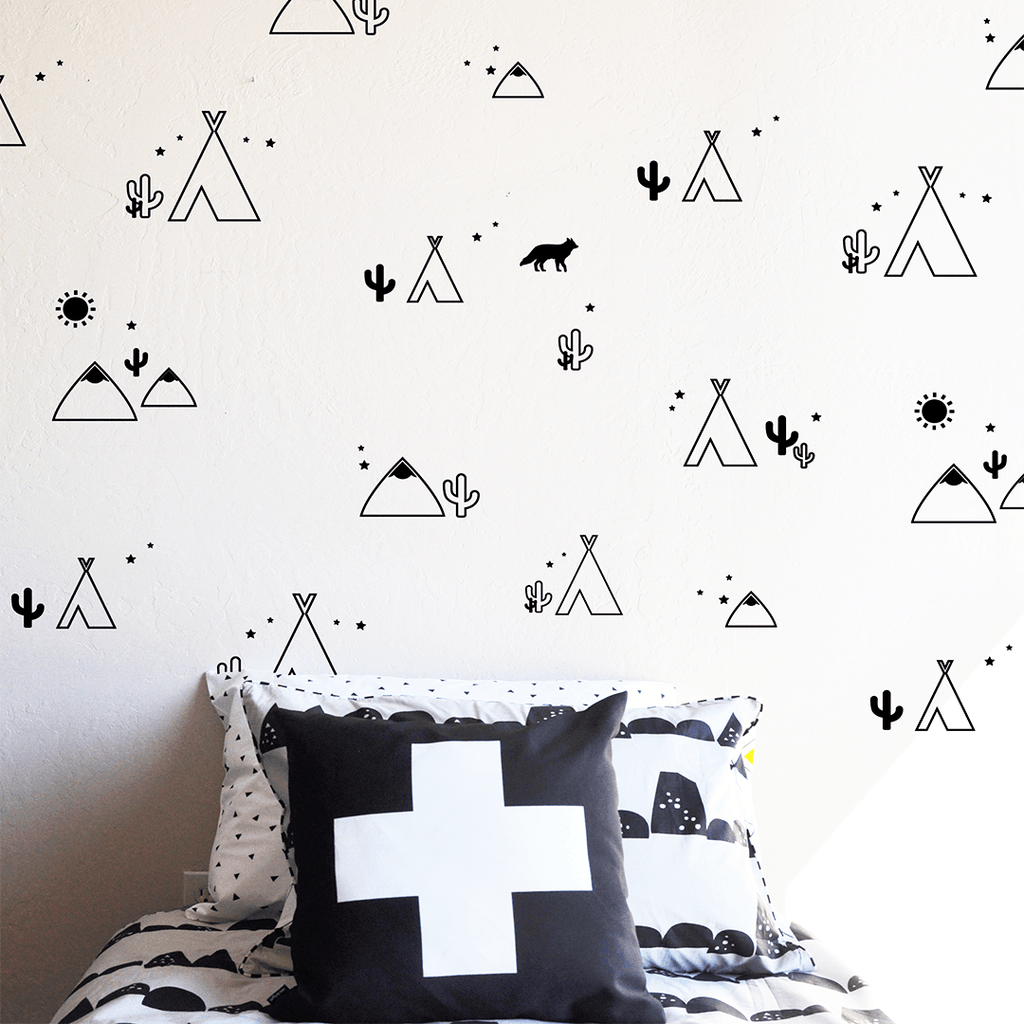 Desert Compilation Wall Decal Black - The Project Nursery Shop - 1