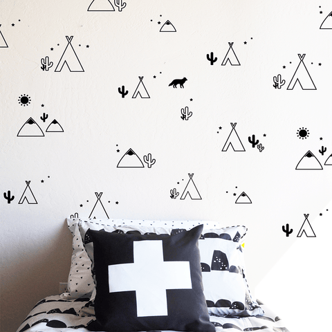 Watercolor Polka Dots Wall Decals
