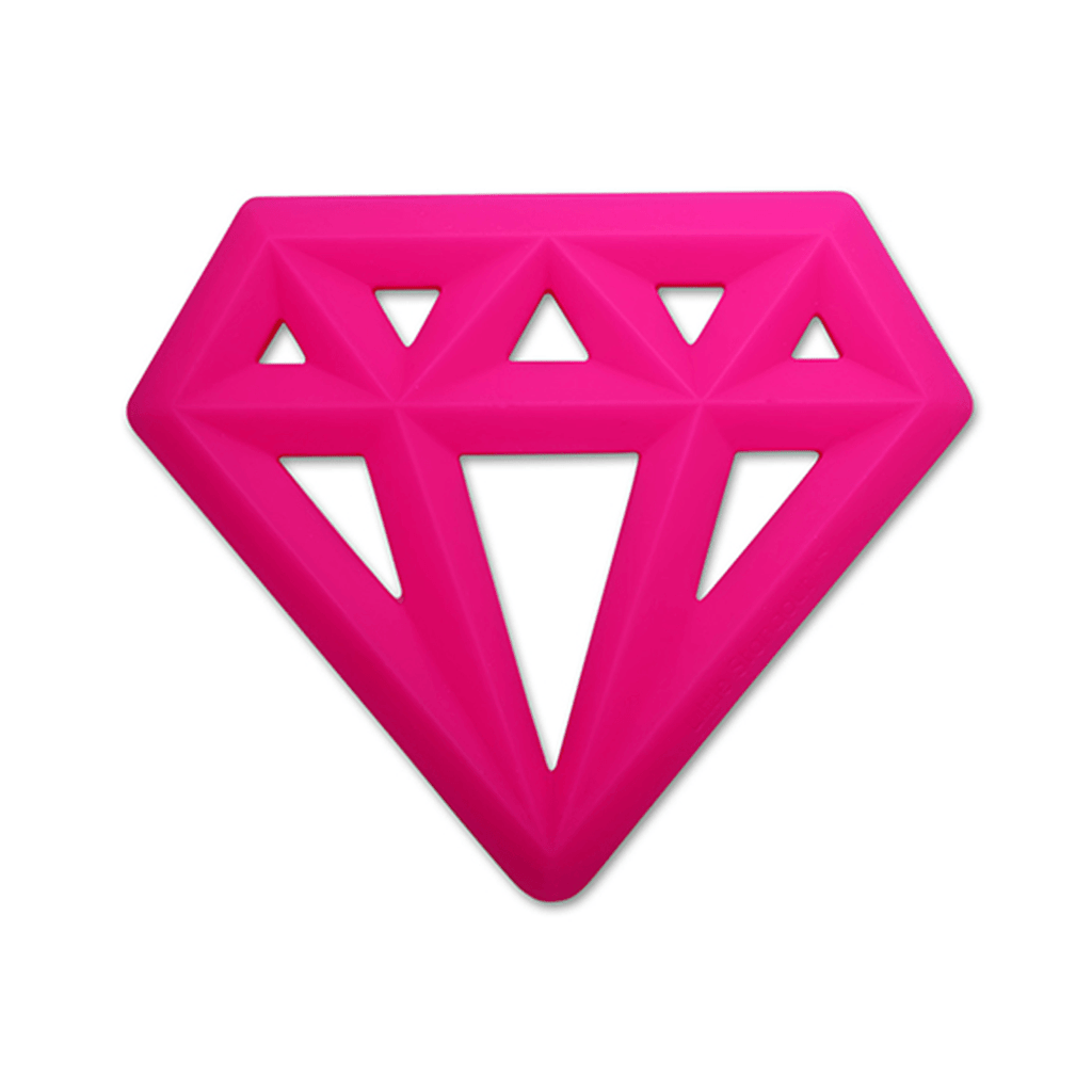 Silicone Diamond Teether Pink - The Project Nursery Shop - 2