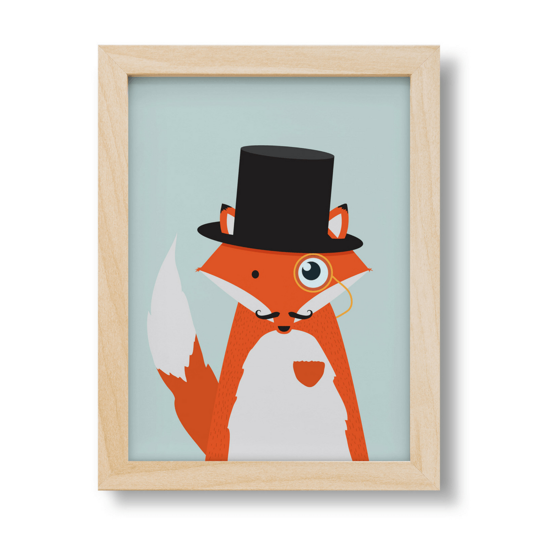Baldrick the Cunning Fox Print - Project Nursery
