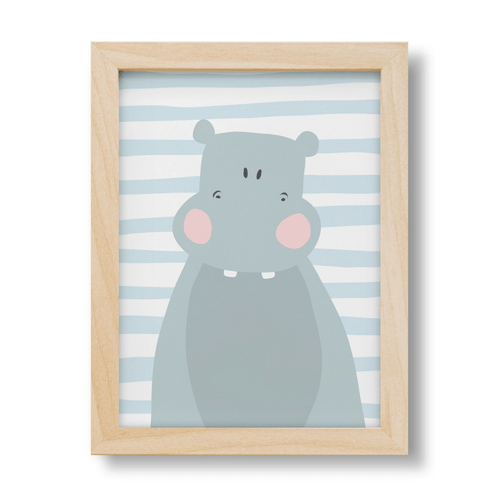 Cute Hippo Print - Project Nursery