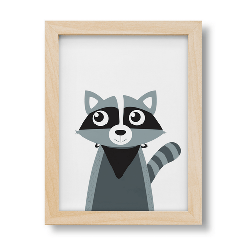 Elvis the Sneaky Raccoon Print - Project Nursery