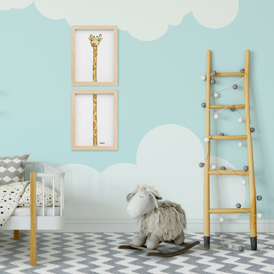 Giraffe Boy Two-Piece Print Set - Project Nursery