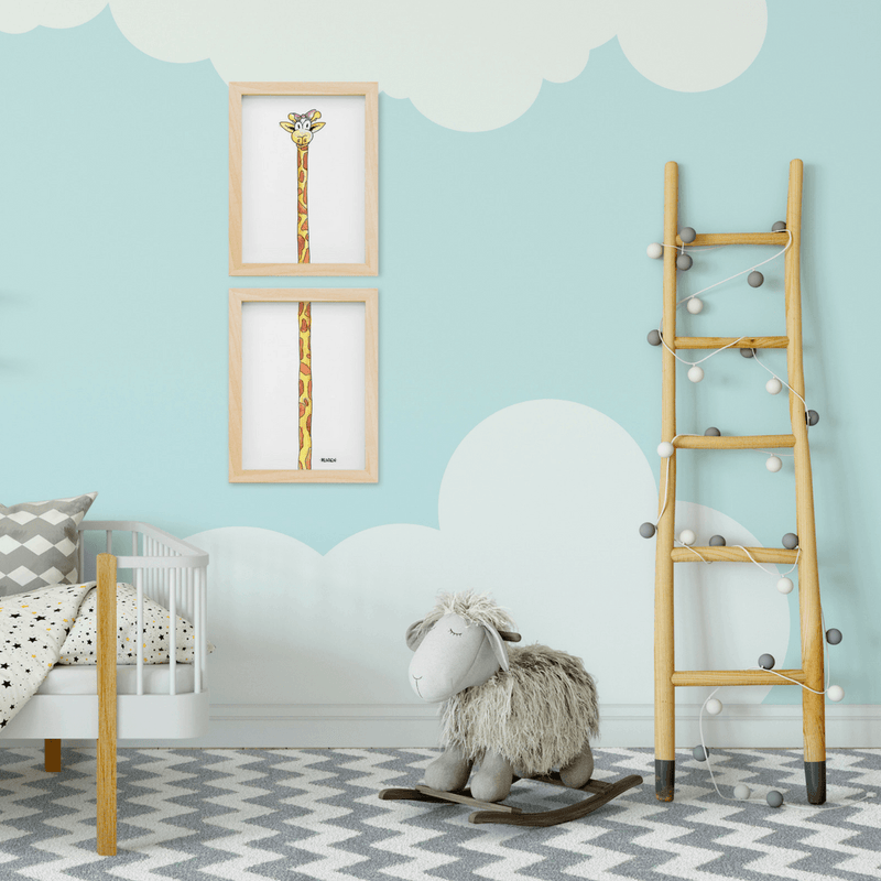 Giraffe Girl Two-Piece Print Set - Project Nursery