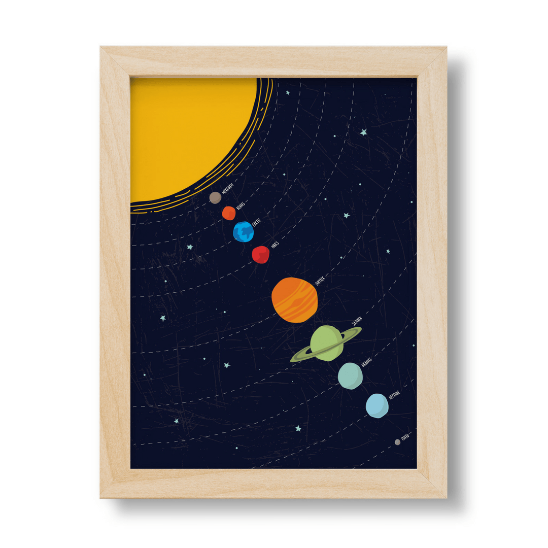 Linear Solar System Print - Project Nursery