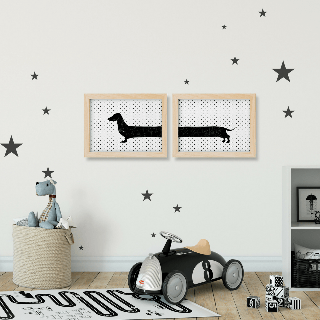 Looooongest Dachshund Two-Piece Print Set - Project Nursery
