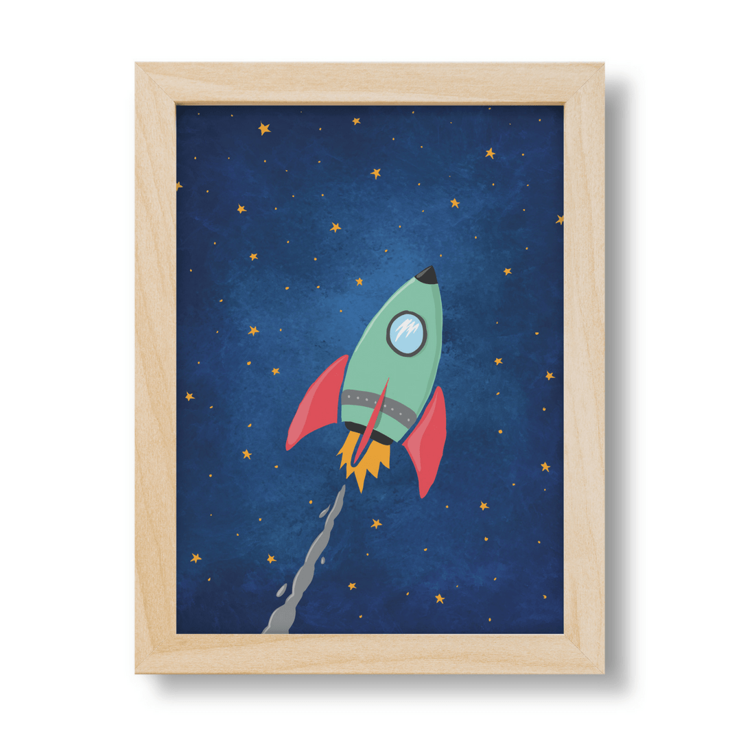 Rocket Print - Project Nursery