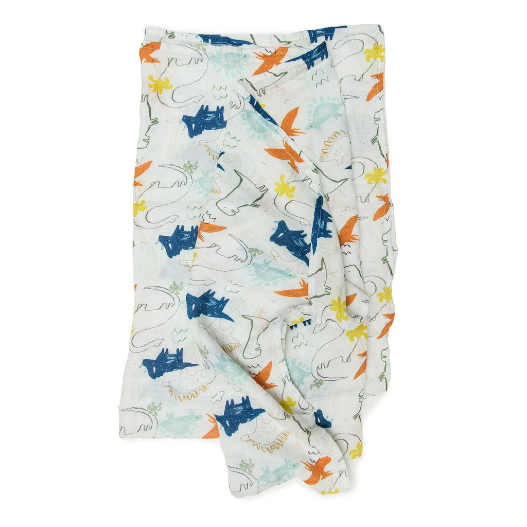 Dinoland Muslin Swaddle Blanket - Project Nursery