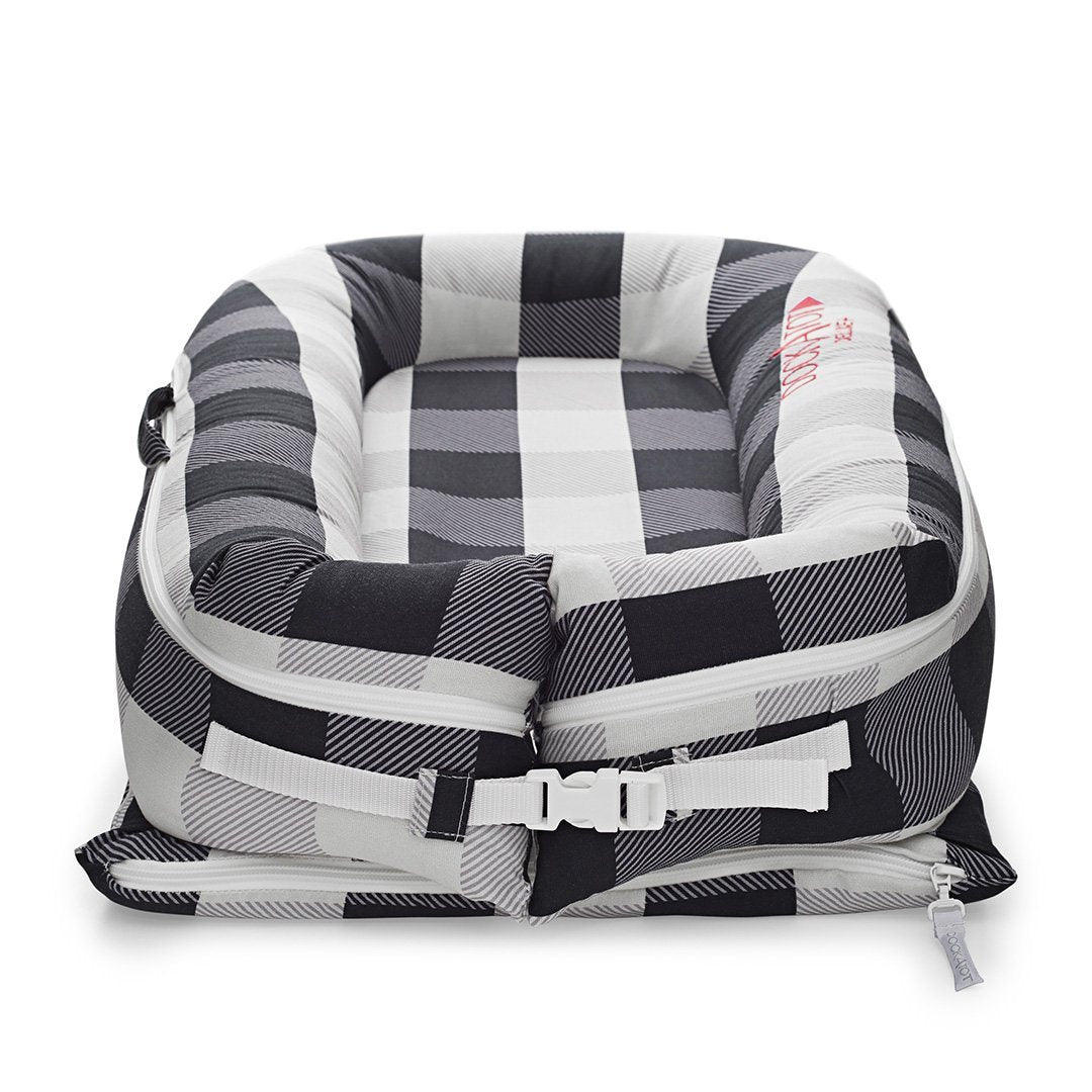 DockATot Deluxe+ Cover - Charcoal Buffalo - Project Nursery