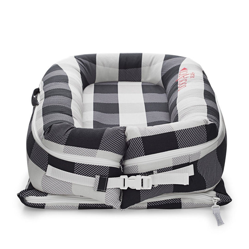 DockATot Deluxe+ Spare Cover - Charcoal Buffalo - Project Nursery