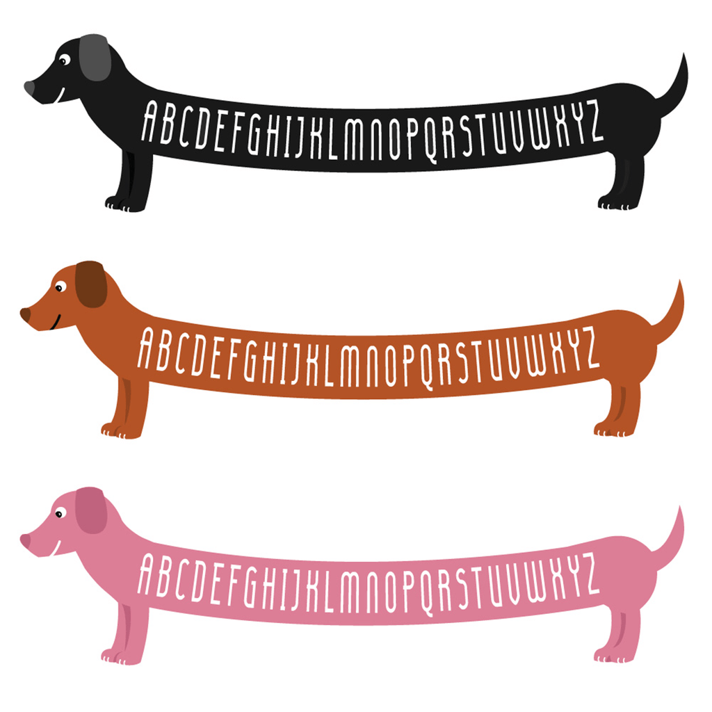 ABC Dachshund Art Print Pink - The Project Nursery Shop - 3