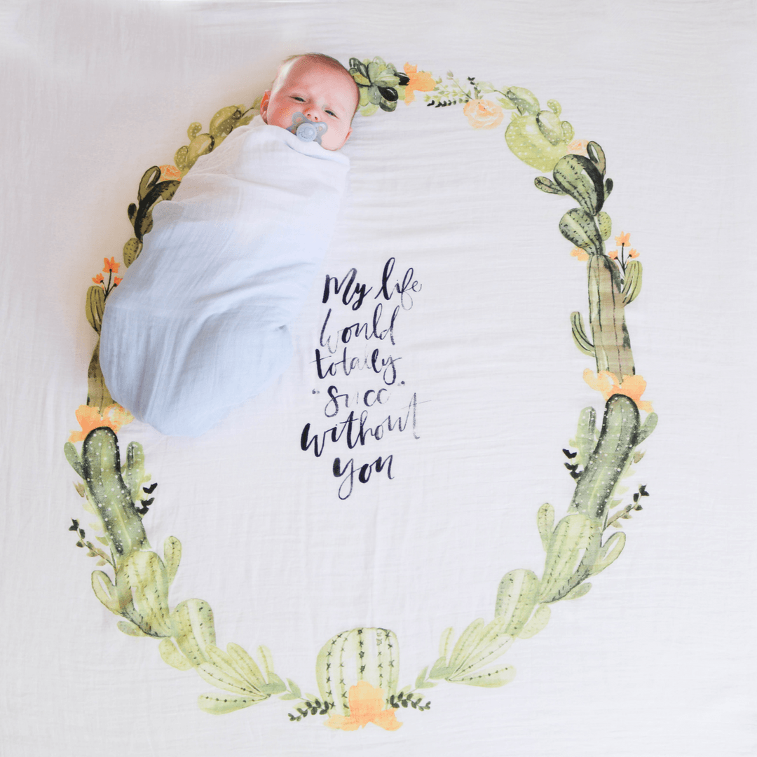 Desert Cactus Organic Swaddle Blanket - Project Nursery